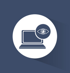 cyber security technology data surveillance vector image vector image