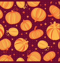 orange dark red pumpkins polka dots vector image vector image