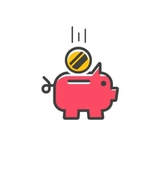 Piggy bank icon isolated vector image vector image