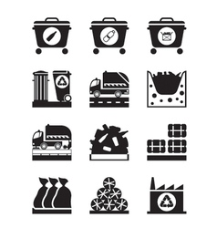 Collection and processing of garbage vector image