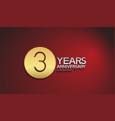 3 years anniversary logotype with golden circle vector
