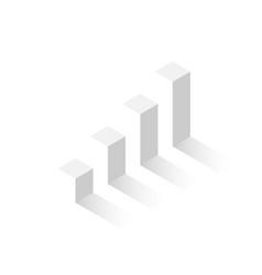 3d isometric column graph eps10 vector image