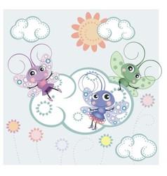 A little butterflies vector image