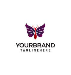 abstract butterfly logo template simple logo vector image