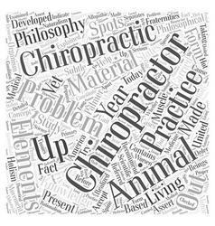Animal chiropractor Word Cloud Concept vector