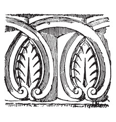 anthemion are anglo-norman pattern vintage vector image