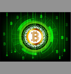 Background in a matrix style with bitcoin digital vector
