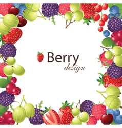 Berries frame for your designs vector