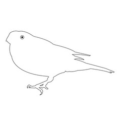Bird outline icon eps vector
