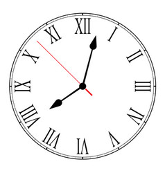 Blank clock face on white vector