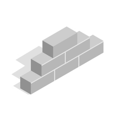 Brickwork icon isometric 3d style vector