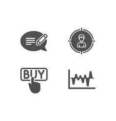 Buying headhunting and message icons stock vector