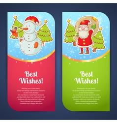 Christmas greeting postcards vector image