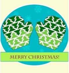 Christmas mittens vector