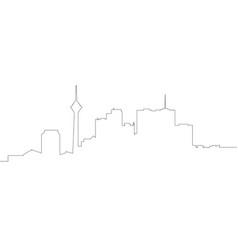 continous line skyline of tehran vector image