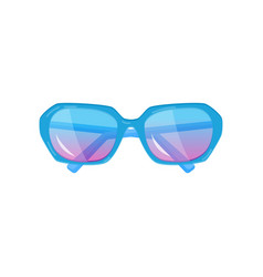 cool fashionable youth glasses of an unusual form vector image