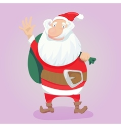 Cute Santa Clause hand drawn vector image