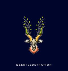 deer line art design template vector image