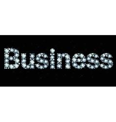 Diamond word business vector image