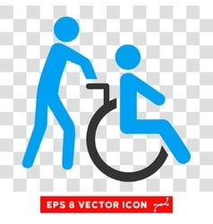 Disabled Person Transportation Eps Icon vector