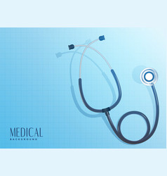 Doctor stethoscope object on blue background vector