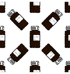 Drugs flat pattern vector image