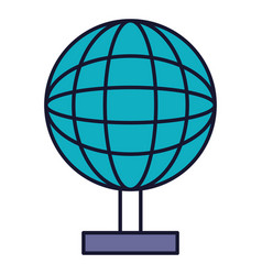 Earth planet school icon vector