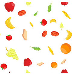 eco food seamless pattern healthy vector image