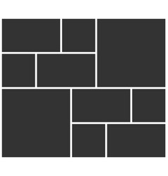 Empty photo frame collage layout vector