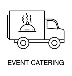 Event catering isolated outline icon logo vector