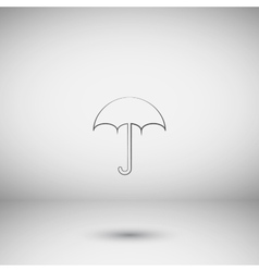 Flat paper cut style icon of umbrella vector