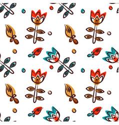 Floral seamless pattern as scandinavian textile vector