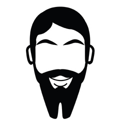 French Fork Beard vector