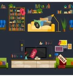 Furniture Shop Super Sale vector image