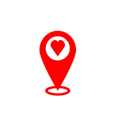 gps icon map pointer sign search for love vector image