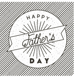 happy fathers day lace vector image