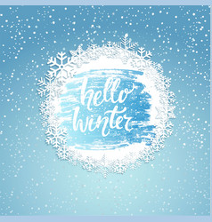 hello winter geeting card vector image