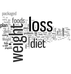how to choose a weight loss plan vector image