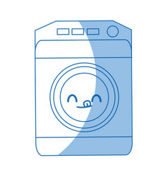 Kawaii washing machine icon home appliance symbol vector