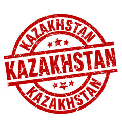 Kazakhstan red round grunge stamp vector