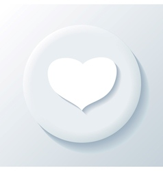 Love 3D Paper Icon vector image
