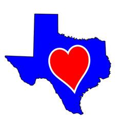 Love heart texas vector