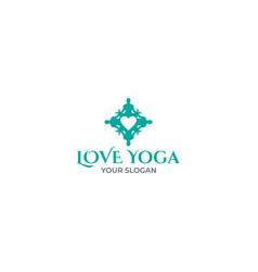 love yoga logo design vector image