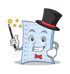 Magician notebook character cartoon design vector