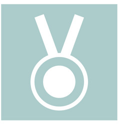 medal the white color icon vector image