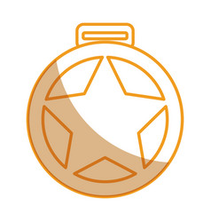 Medallion with star award vector