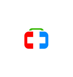 medical equipment logo vector image