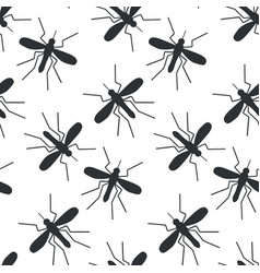 mosquito seamless pattern vector image