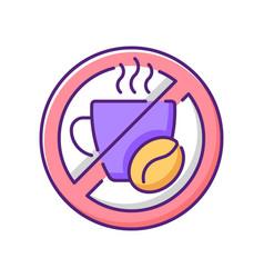 No caffeine rgb color icon vector