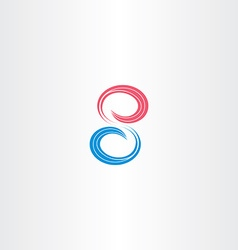 number eight 8 symbol design vector image